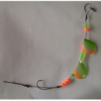 Double Colorado Blade worm harness